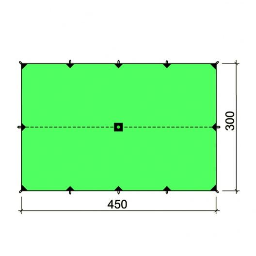 Туристический тент Bask (Баск) Canopy Silicone 3x4.5